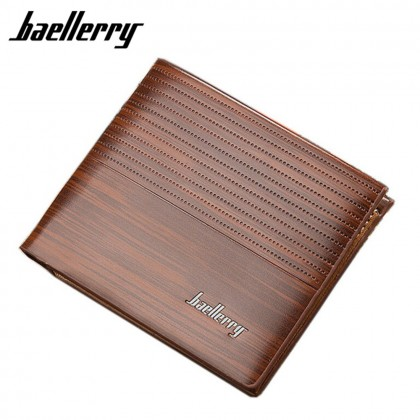 4GL BAELLERRY Slim Minimalist Men Short Wallet Leather Dompet DR002