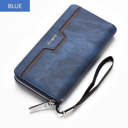 4GL Baellerry S1513 Canvas Handphone Men Women Wallet Long Purse Dompet
