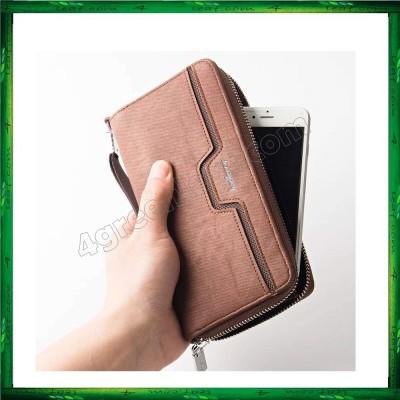 Baellerry S1513 Handphone Men Women Wallet Long Purse Leather