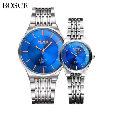 4GL Bosck 3304 Luxury Men Women Watch Waterproof Stainless Steel