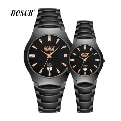 4GL Bosck 2056D Luxury Men Women Watch Waterproof Stainless Steel