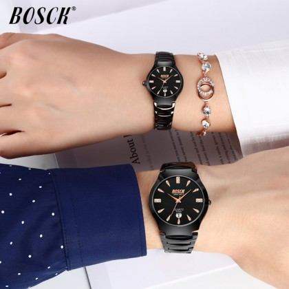 4GL Bosck 2056D Watch Luxury Men Women Waterproof Stainless Steel