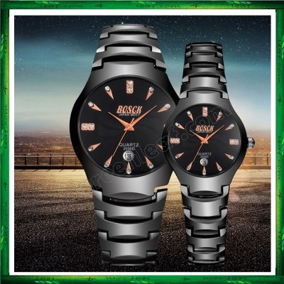 BOSCK Luxury Men Women Watch Waterproof Stainless Steel CW02