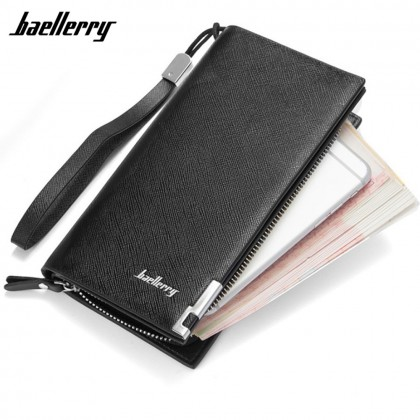 4GL Baellerry SW005 Long Wallet Handphone Men Women Purse Leather