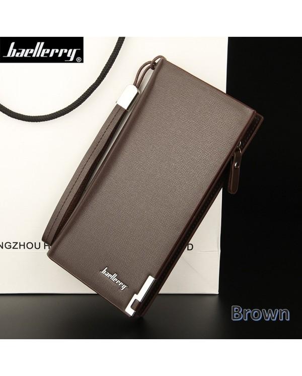Baellerry SW004 SW005 Handphone Men Women Wallet Long Purse Leather