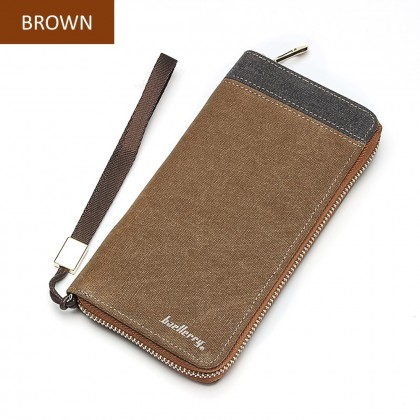 4GL Baellerry S6033 Long Wallet Canvas Men Premium Purse Dompet