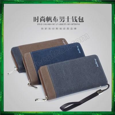 Baellerry S6033 Canvas Men Premium long Wallet Purse