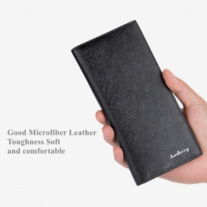 4GL Baellerry 3027 Long Wallet Men Women 0.5cm Slim Purse Dompet