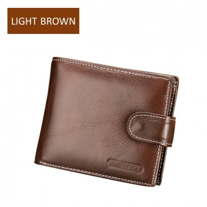 4GL Baellerry D1303 Short Wallet Men Women Purse Leather Dompet