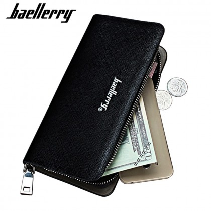 4GL Baellerry S2208 Purse Long Zipper Clutch Wallet Wristlet Dompet