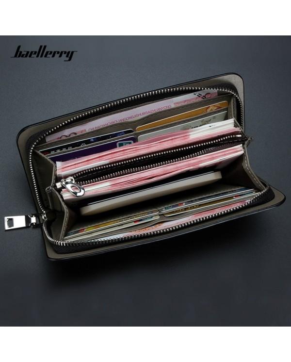 4GL Baellerry S2208 Purse Long Zipper Clutch Wallet Wristlet Dompet