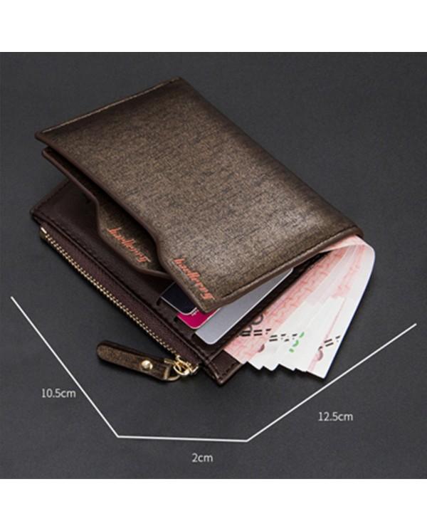 4GL Baellerry Men Women Wallet Short Purse Leather DP822 Vertical