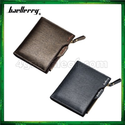 Baellerry Men Women Wallet Short Purse Leather DP822