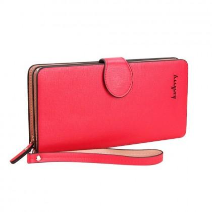 4GL Baellerry 13845-3 Long Purse Handphone Design Zip Wallet Wristlet