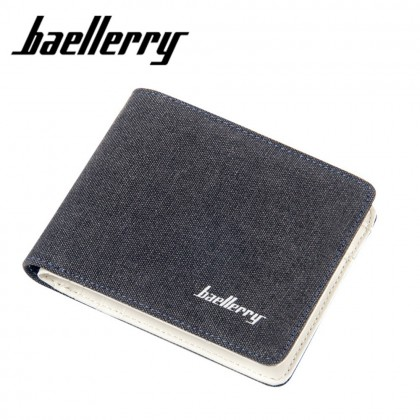 4GL BAELLERRY D3286 Canvas Men Wallet Short Purse Dompet