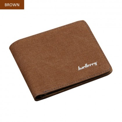 4GL Baellerry D3286 Short Wallet Canvas Men Purse Dompet