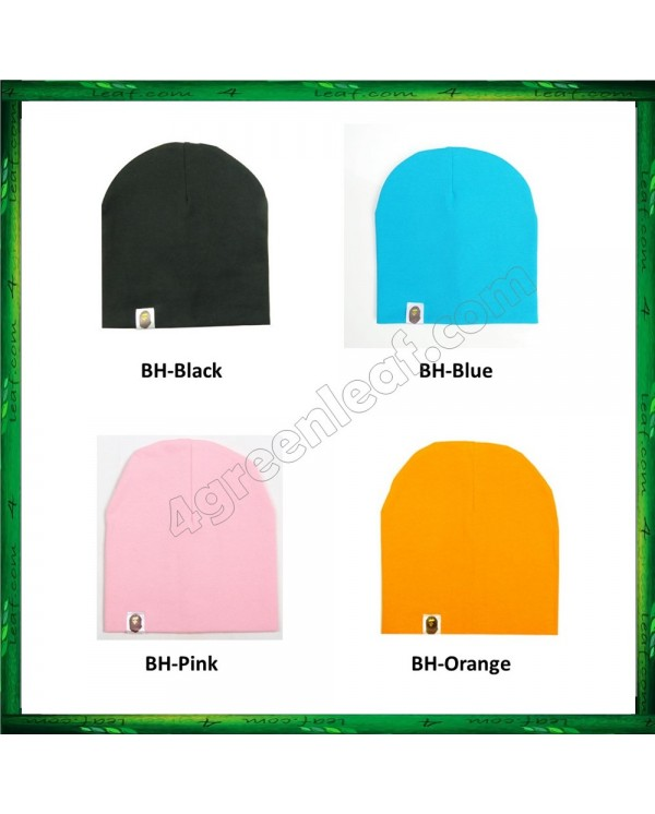Cute Warm Plain Color Baby Hat Cotton Beanie Cap for Baby