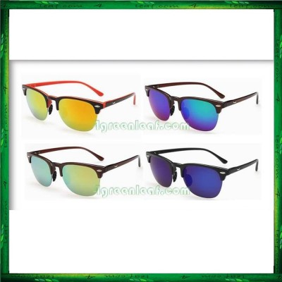 TR90 Frame Clubmaster Polarized Sunglasses Light Weight Anti UV Glare