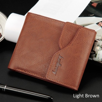 4GL Baellerry D0129 Short Wallet Men Women Purse Leather Dompet
