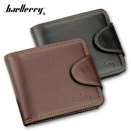 4GL Baellerry DA401 Short Wallet Men Women Purse Leather Dompet