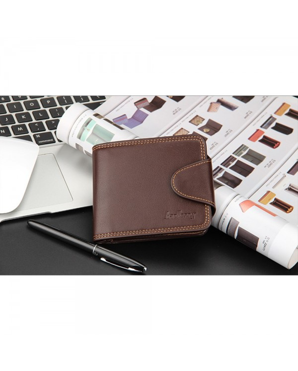 4GL BAELLERRY Men Women Wallet Short Purse Leather Dompet DA401