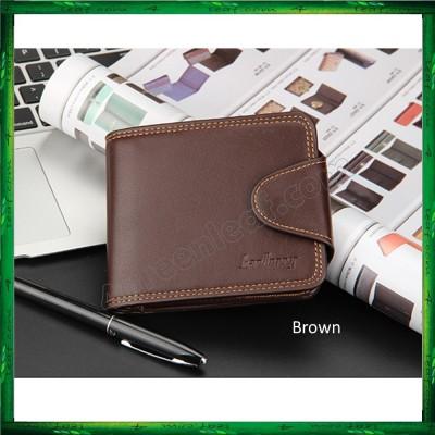Baellerry Men Women Wallet Short Purse Leather DA401