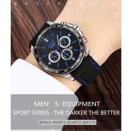 4GL BOSCK 3136 Sport Silicone Men Women Watch