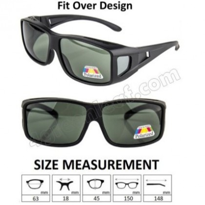4GL SFO Polarized Fit Over Overlap Sunglasses (UV400)
