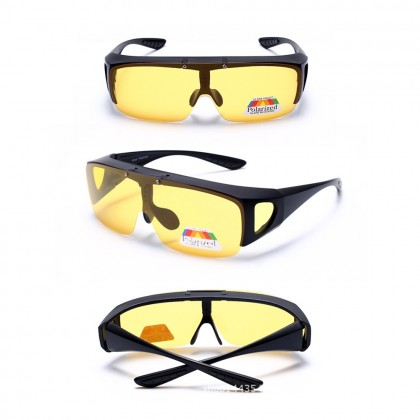 4GL FUO Polarized Flip UP Fit Over Overlap Sunglasses (UV400)