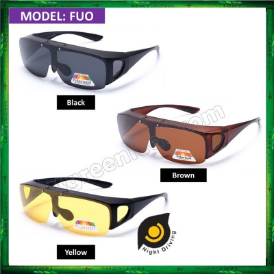Polarized Flip UP Fit Over Overlap Sunglasses (UV400) FUO