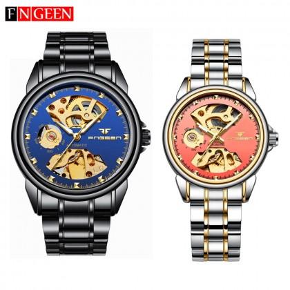 FNGEEN 8818 Luxury Gold Men Women Automatic Mechanical Tourbillon Wrist Watches