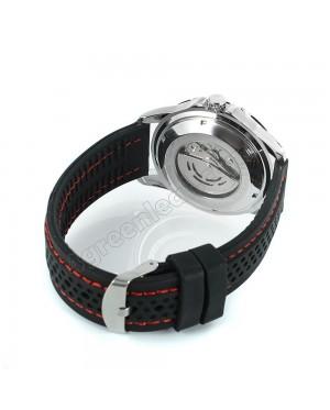 WM12 Winner Auto Date Automatic Men Silicone Strap Mechanical Wristwatches