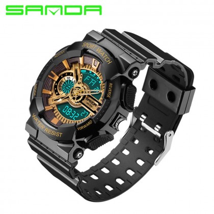 4GL Sanda 799 Waterproof Sport Men Shockproof Digital Watch Jam Tangan