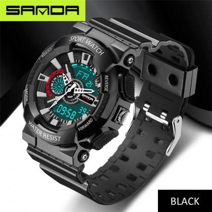 4GL Sanda 799 Watch Waterproof Sport Men Shockproof Digital Jam Tangan