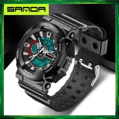Sanda 799 Military Waterproof Outdoor Sports Mens Shockproof Digital Watch
