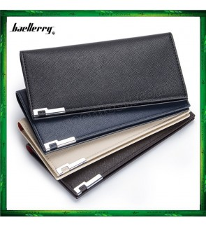 Baellerry Men Women Long Slim Wallet Purse A026-3