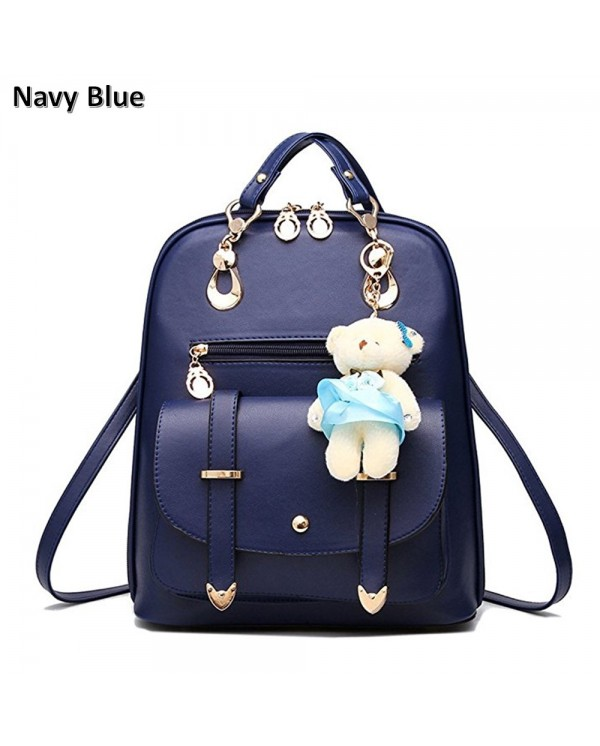 4GL Fashion Multi-Way Girls School Backpack With Bear Keychain
