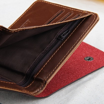 4GL BAELLERRY Men Women Wallet Short Purse Leather D0239