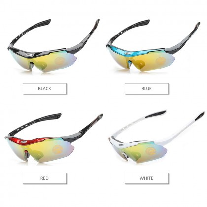 4GL Robesbon 0089 13-in-1 Cycling Eyewear Bicycle UV400 Sport Polarized Sunglasses