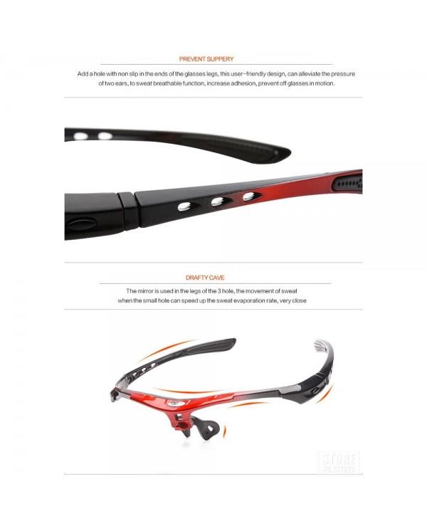 4GL Robesbon 0089 13-in-1 Cycling Eyewear Bicycle UV400 Sport Polarized Sunglasses