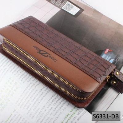 Deya Bier Crocodile Pattern PU Leather Men Wallet Purse Clutch Handbag S6331
