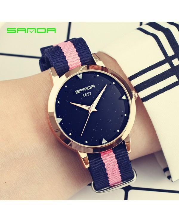 Sanda P207 Stripe Fashion Women Watch