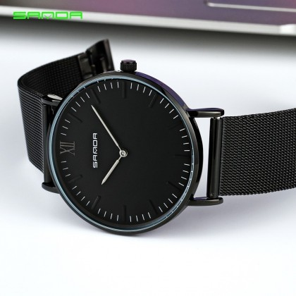 4GL Sanda P208 Ultra Thin Stainless Steel Couple Watch