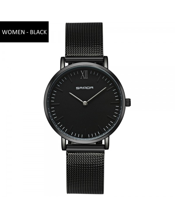 4GL Sanda P208 Ultra Thin Stainless Steel Couple Watch