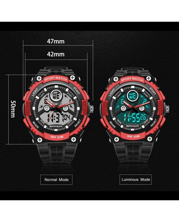 4GL Sanda 709 Dual Display 30M Waterproof Sport Military LED Digital Watch
