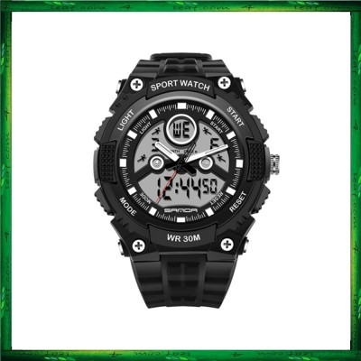 Sanda 709 Dual Display 30M Waterproof Sport Military LED Digital Watch