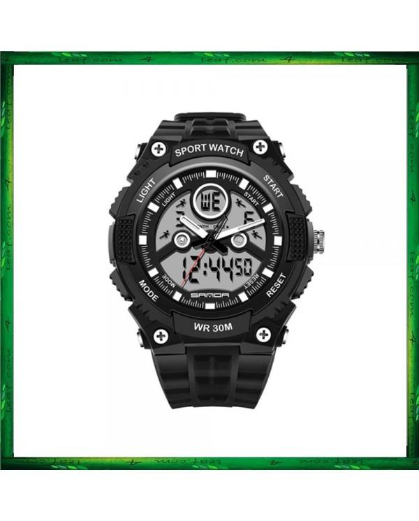 Sanda 709 Dual Display 30M Waterproof Sport Military LED Digital Watch