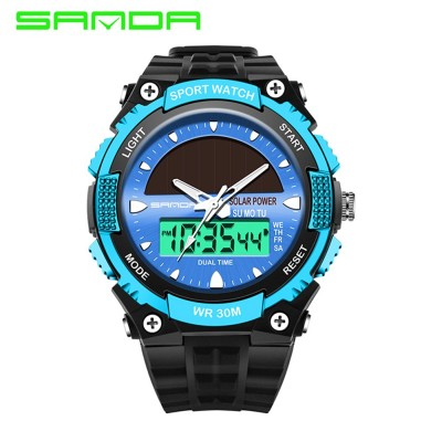 4GL Sanda 719 Dual Display 30M Waterproof Sport Military LED Digital Watch
