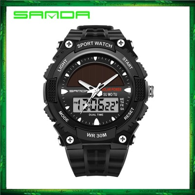 Sanda 719 Dual Display 30M Waterproof Sport Military LED Digital Watch
