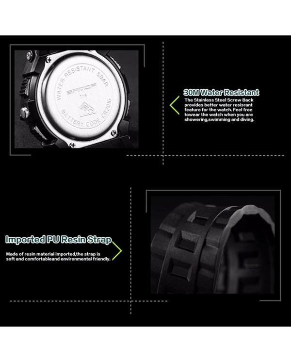 Sanda 719 Dual Display 30M Waterproof Sport Military LED Digital Watch